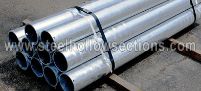 Hollow Section schedule 80 galvanized circular steel pipe Suppliers Exporters Dealers Distributors in India